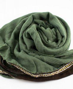Zirconia & Pearl Hijab Pistachio