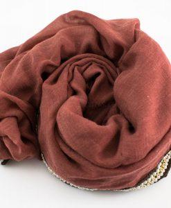 Zirconia & Pearl Hijab Rust 3