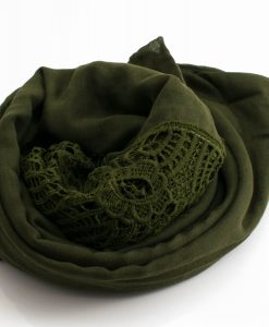 Antique Lace Hijab Army Green 3