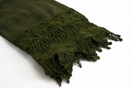 Antique Lace Hijab Army Green