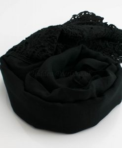 Antique Lace Hijab Black 2