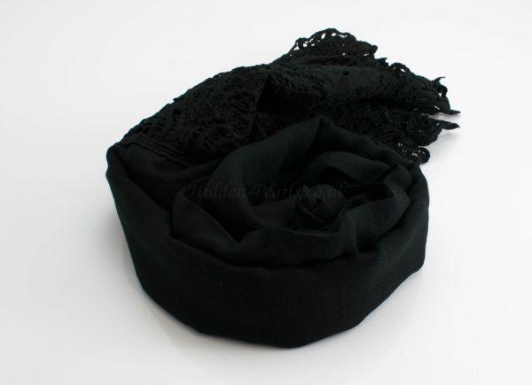 Antique Lace Hijab Black 2