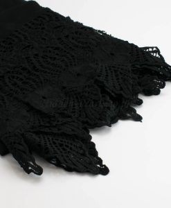 Antique Lace Hijab Black