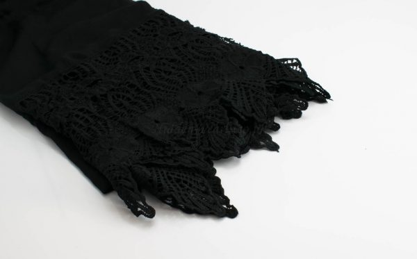 Antique Lace Hijab Black