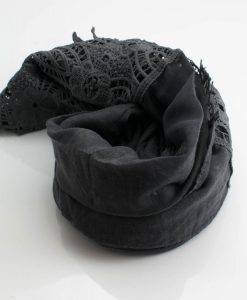 Antique Lace Hijab Dark Grey 2