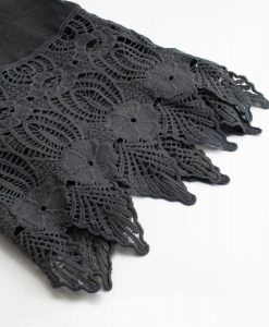 Antique Lace Hijab Dark grey