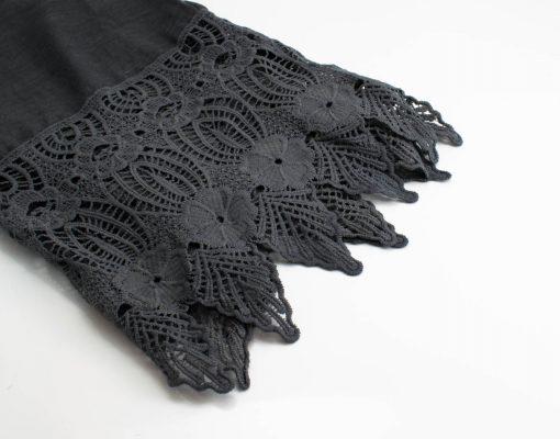 Antique Lace Hijab Dark grey
