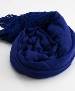 Antique Lace Hijab Deep Blue 2