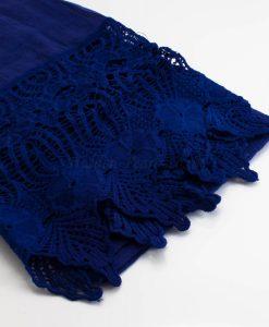 Antique Lace Hijab Deep Blue
