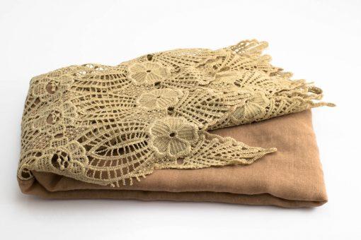 Antique Lace Hijab Light Brown