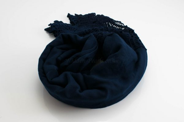Antique Lace Hijab Midnight Blue 2