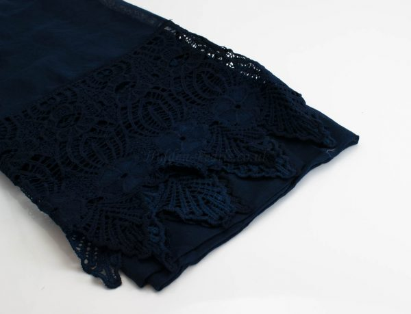 Antique Lace Hijab Midnight Blue