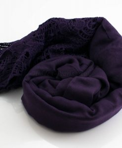 Antique Lace Hijab Plum 3