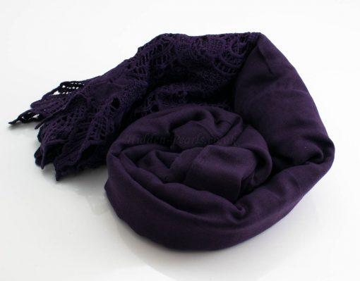 Antique Lace Hijab Plum 3