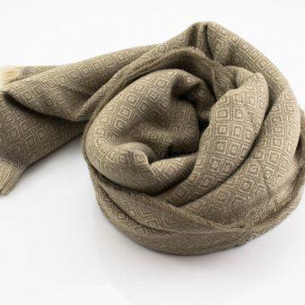 Print Hijab - Beige- Hidden Pearls