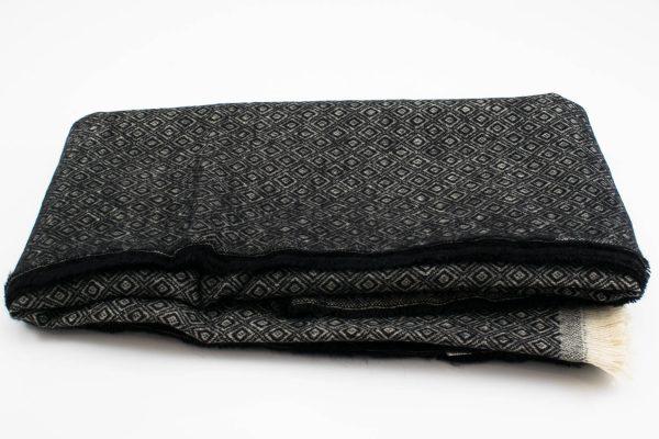 Geo Print Hijab - Black 2- Hidden Pearls