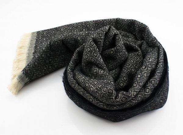 Geo Print Hijab - Black- Hidden Pearls