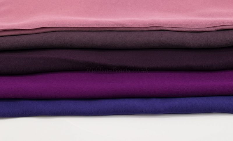 Chiffon Hijabs Purples 2- Hidden Pearls