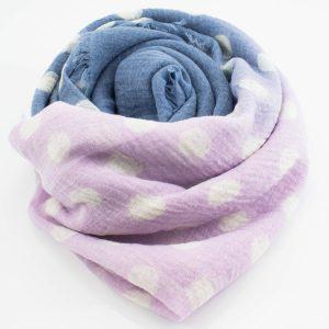 Crimp Polka Dot - Lavender & Denim - Hidden Pearls