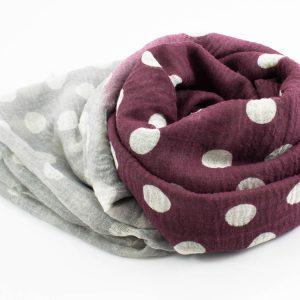 Crimp Polka Dot - Mulberry & Stone - Hidden Pearls