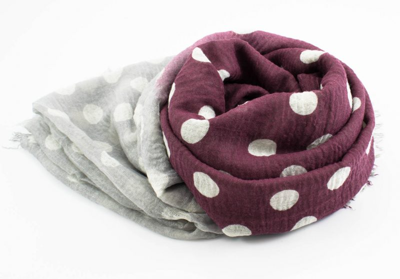 Crimp Polka Dot - Mulberry & Stone - Hidden Pearls