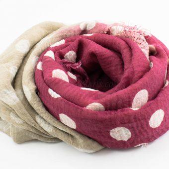 Crimp Polka Dot - Rose & Latte - Hidden Pearls