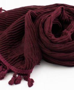 Crinkle Tassel Hijabs - Rosewood - Hidden Pearls