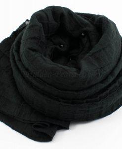 Crushed Pearl Hijab - Black 2 - Hidden Pearls
