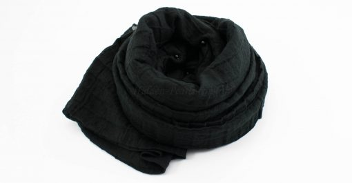 Crushed Pearl Hijab - Black 2 - Hidden Pearls