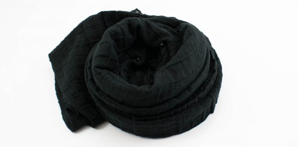 Crushed Pearl Hijab - Black - Hidden Pearls