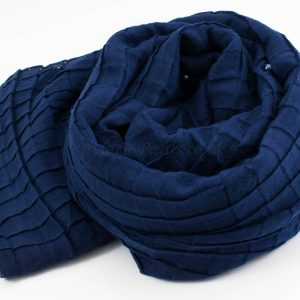 Crushed Pearl Hijab - Navy - Hidden Pearls