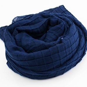 Crushed Pearl Hijab - Navy - Hidden Pearls2