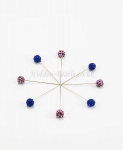 Diamante Hijab Pin - Lavender & Midnight Blue - Hidden Pearls