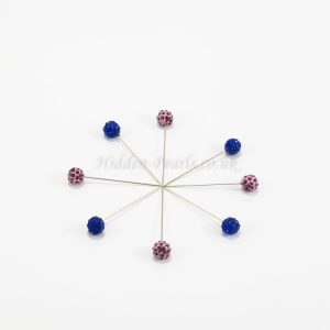 Diamante Hijab Pin - Lavender & Midnight Blue - Hidden Pearls