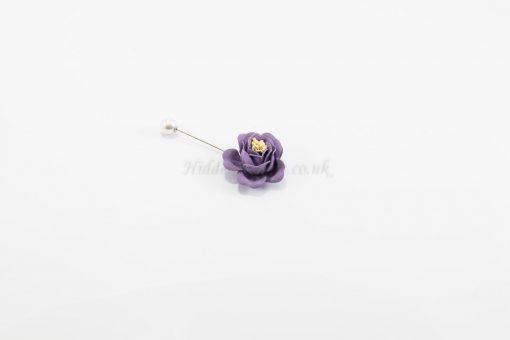 Flower & Pearl Hijab Pin - Purple - Hidden Pearls