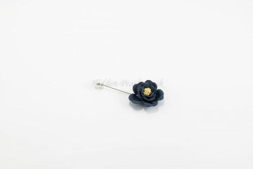 Flower & Pearl Hijab Pin - Blue - Hidden Pearls