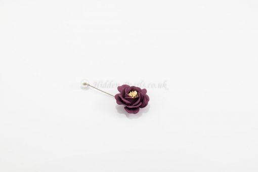 Flower & Pearl Hijab Pin - Plum - Hidden Pearls