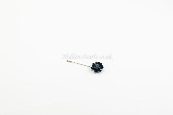 Flower Hijab Pin Blue - Hidden Pearls
