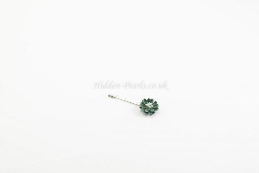 Flower Hijab Pin Green - Hidden Pearls