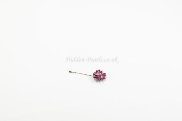 Flower Pin Mauve - Hidden Pearls