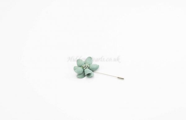 Daisy Flower Pin - Green - Hidden Pearls
