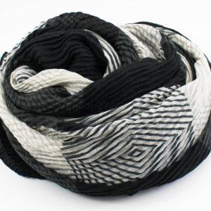 Geo Hijab - Black - Hidden Pearls