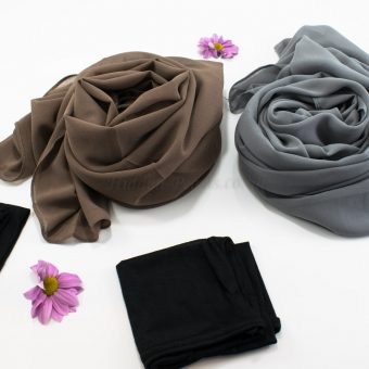 Hijab Chiffon Gift Set - Hidden Pearls