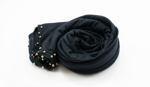 Jersey Pearl Hijab - Charcoal 2 Hidden Pearls