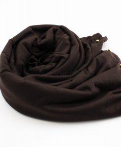 Jersey Pearl Hijab - Chocolate 2 - Hidden Pearls