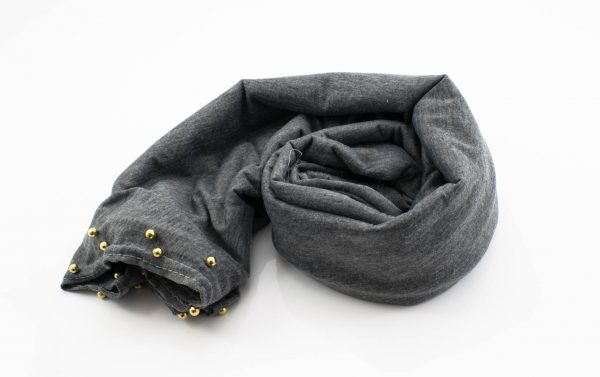 Jersey Pearl Hijab - Grey - Hidden Pearls
