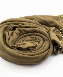 Jersey Pearl Hijab - Mocha 2 - Hidden Pearls