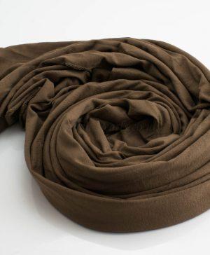 Jersey Plain Hijab Mocha 2