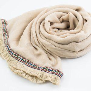 Morrocan Lace Hijab - Beige - Hidden Pearls