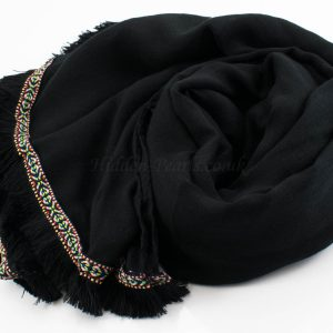 Morrocan Lace Hijab - Black - Hidden Pearls